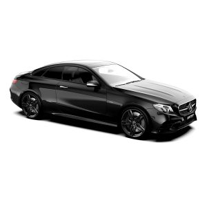 Mercedes E Coupé with Fasten Black glossy