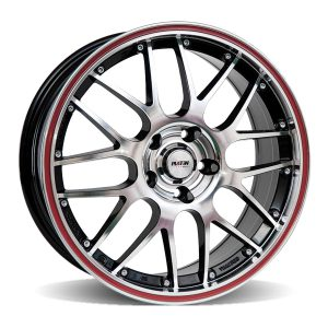 P61 Black polish, edge polish red ring